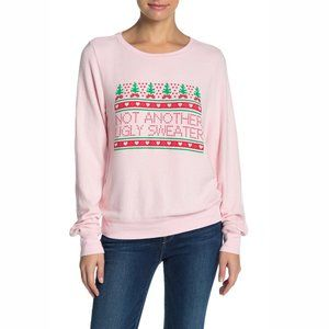 Wildfox Ugly Sweater Knit Pullover Crew Sweatshirt